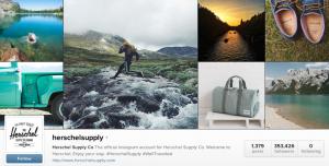 Instagram Herschel Example, Social Media